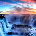 закат солнца над национальным парком игуасу