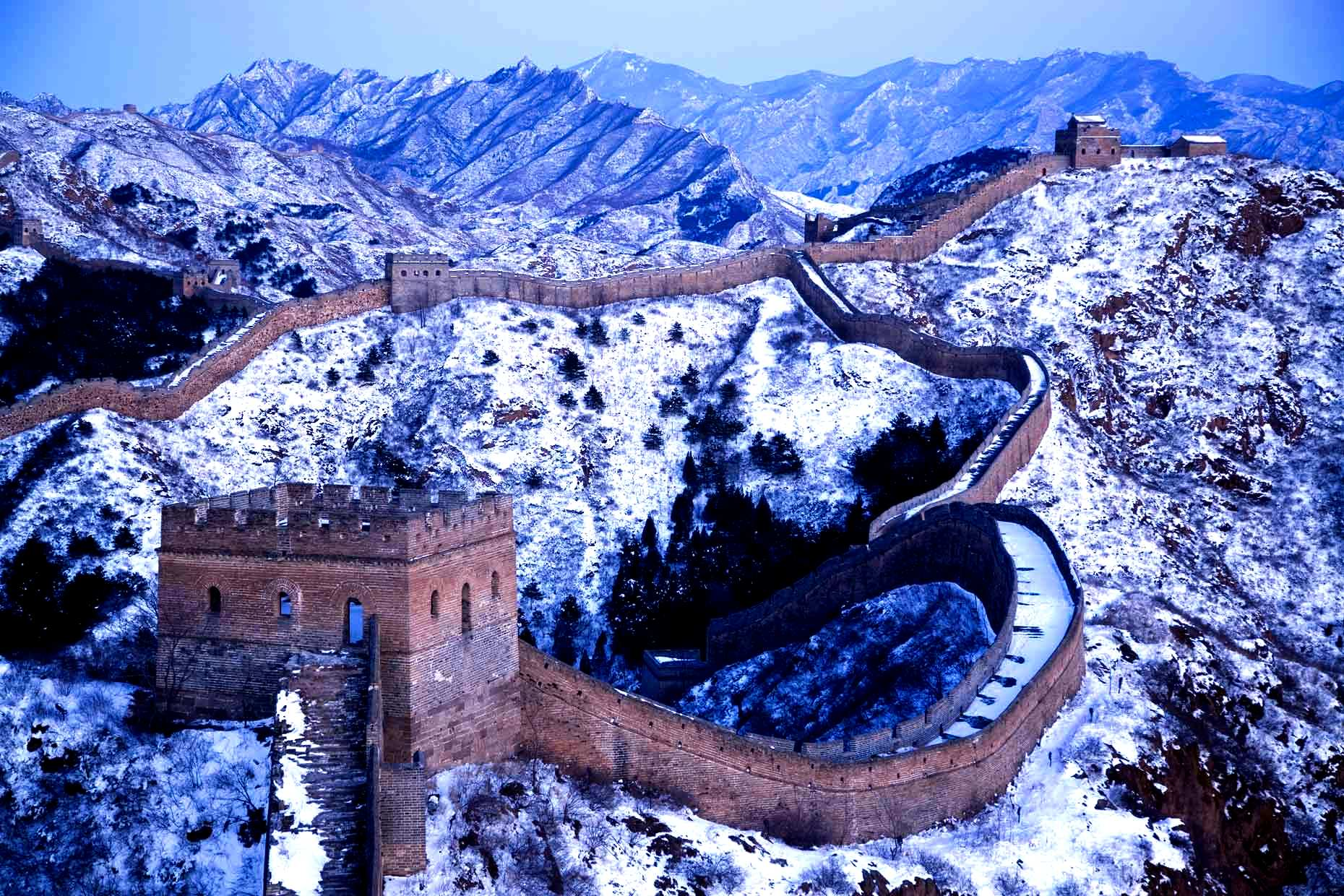 зимние узоры великой стены