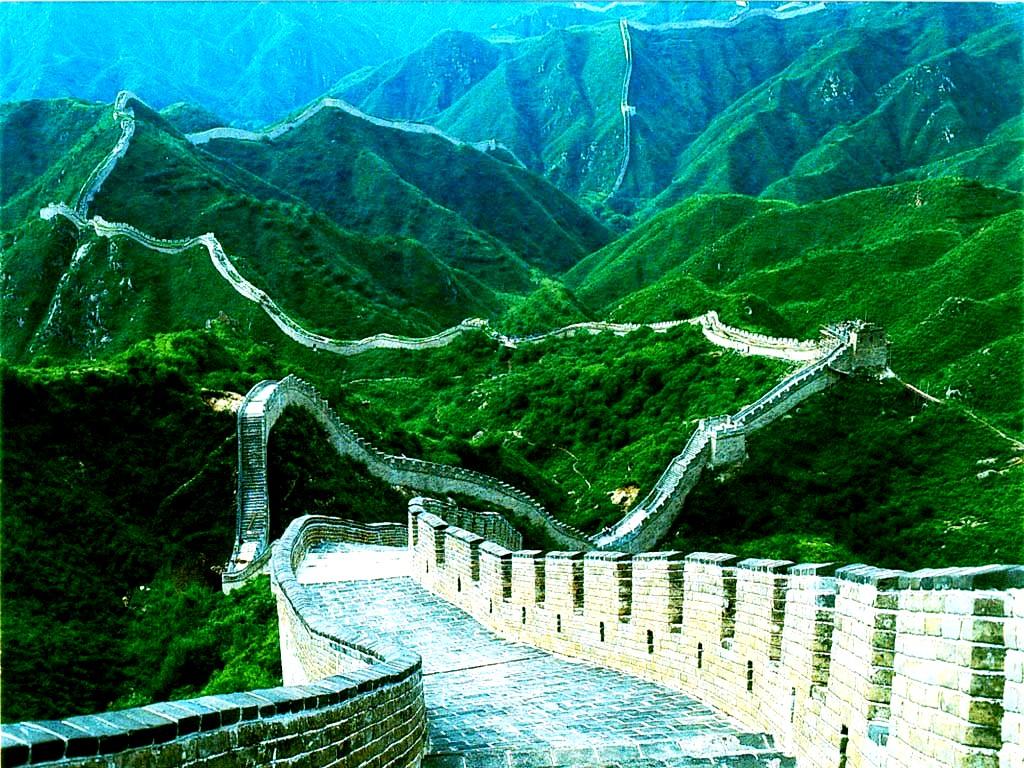 летний пейзаж великой стены