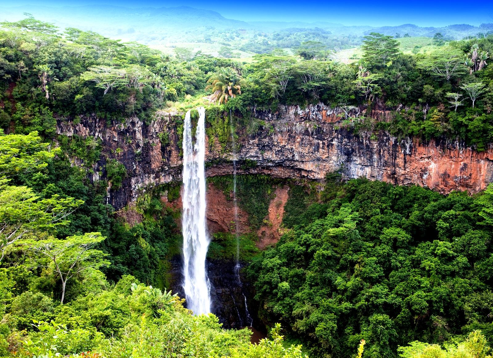 водопад маврикия