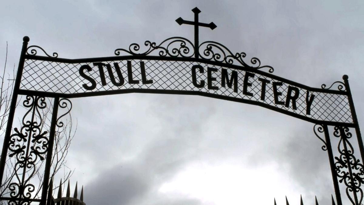 вывеска кладбища Сталл