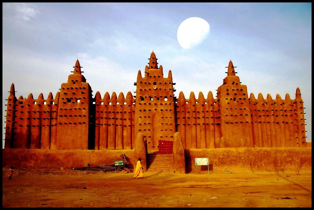 закат над Большой мечетью