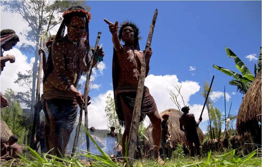 папуасы на охоте