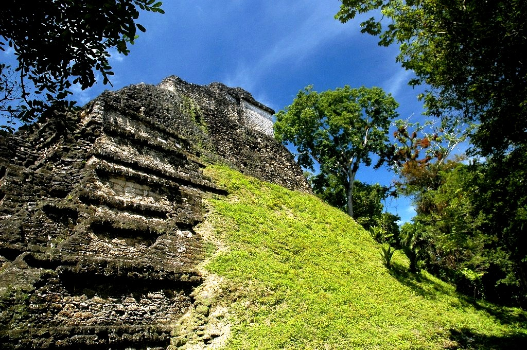 лестница на пирамиду тикаля