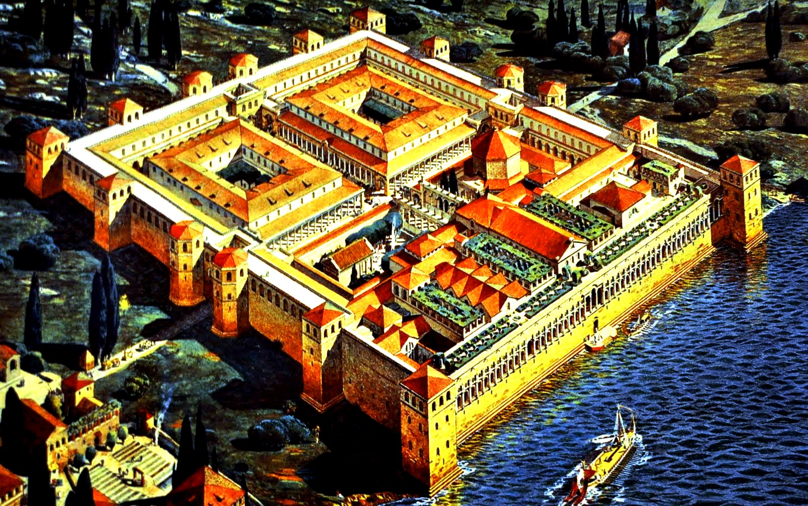 изображение дворца Диоклетиана
