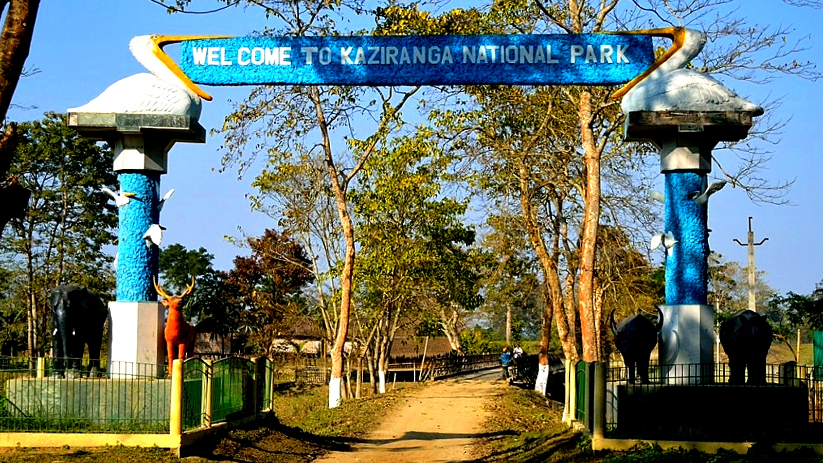 вывеска парка Казиранга