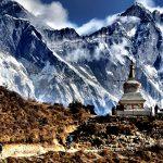 горы парка сагарматха и ступа