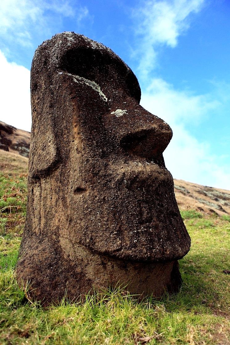 одинокая статуя моаи