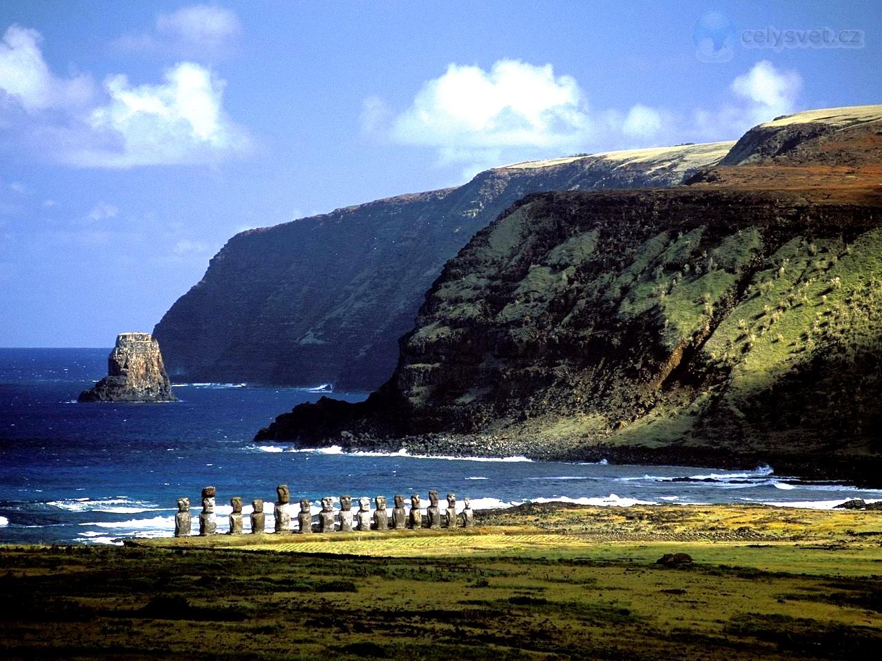 побережье острова пасхи