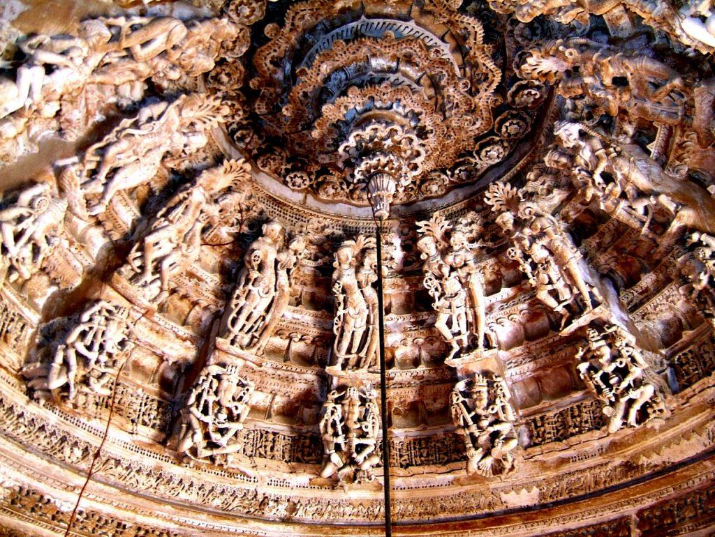 потолок храма в джайсалмере