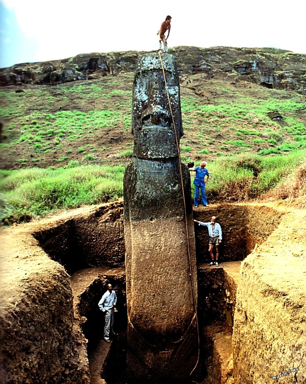 раскопанный моаи