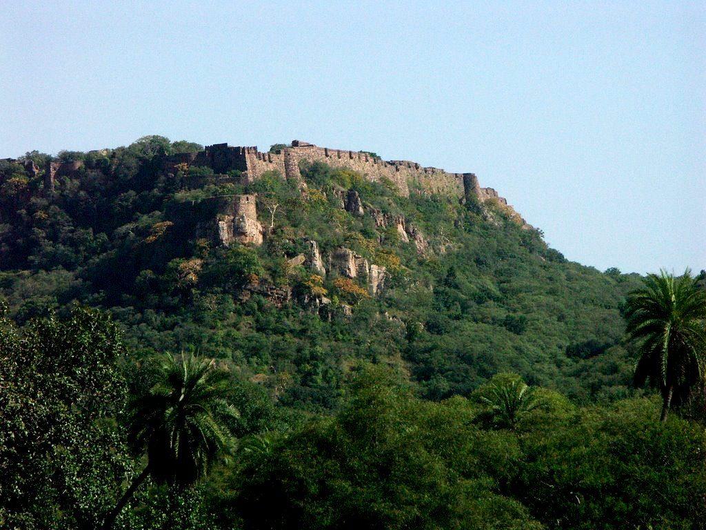 крепость в парке рантхамбор