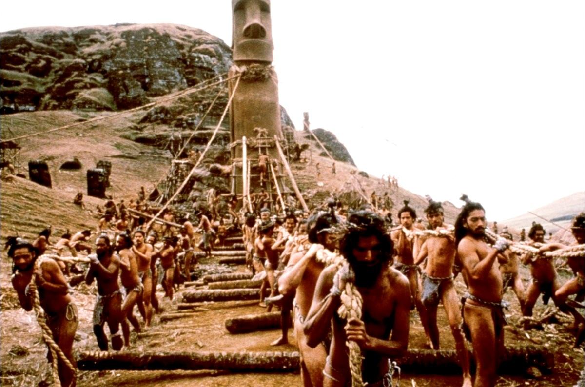 транспортировка моаи