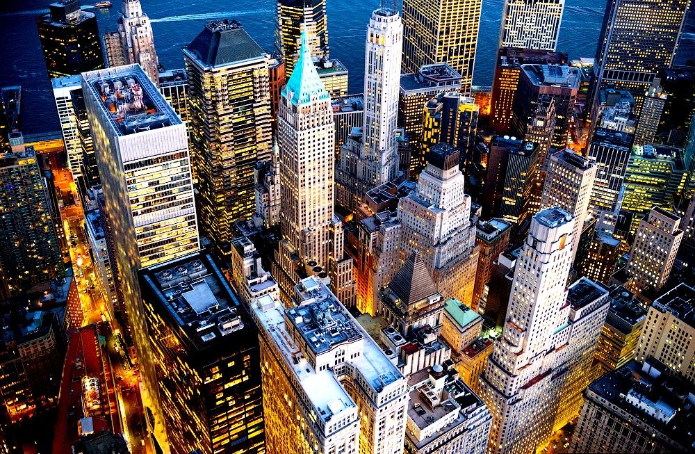 панорама небоскребов