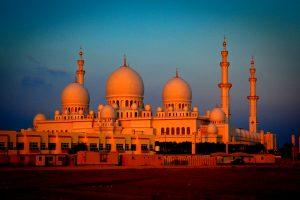 мечеть шейха ночью