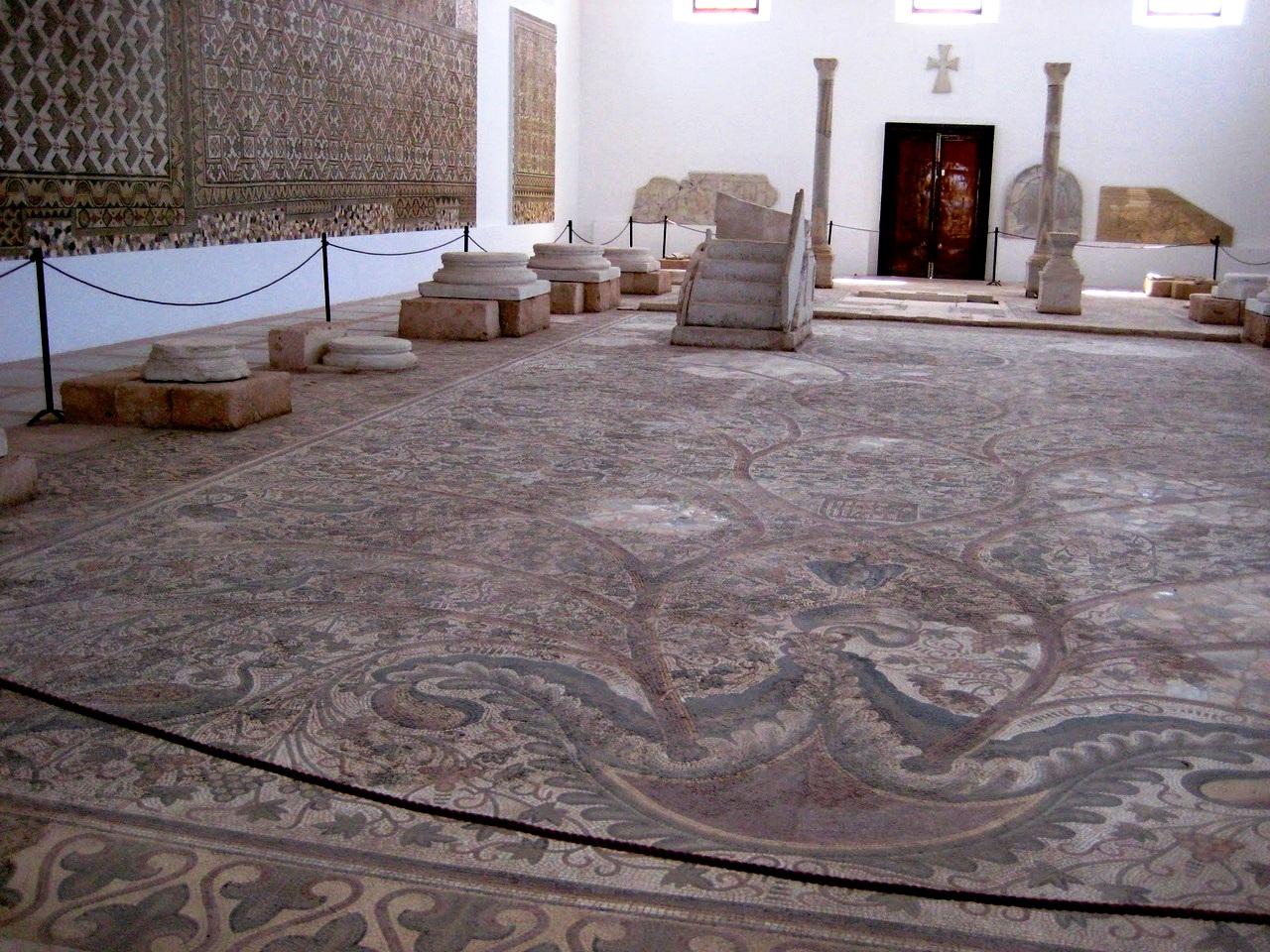 мозаичные полы сабраты