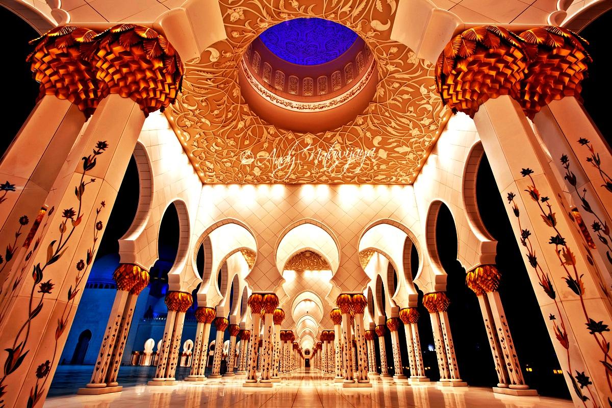 колонны мечети шейха