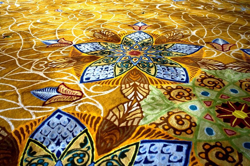полы мечети шейха