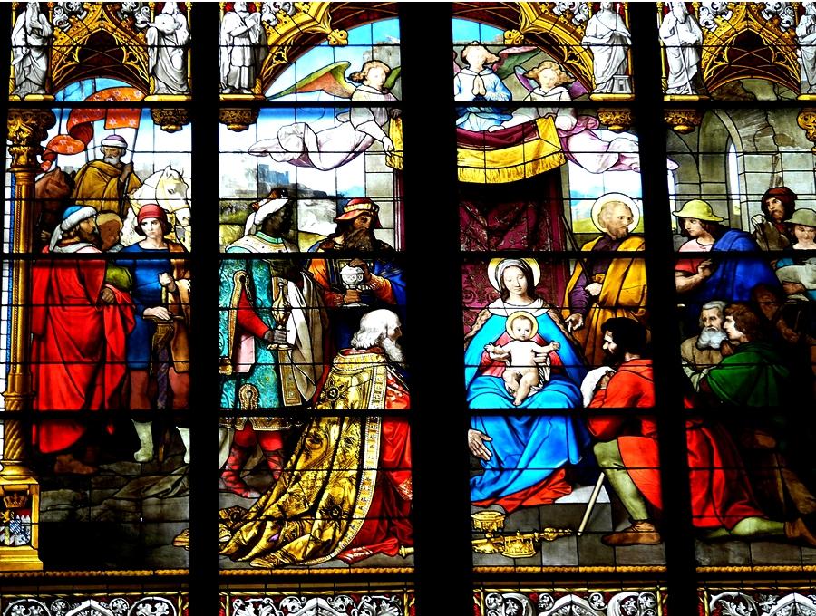 витражи кафедрального собора в кельне