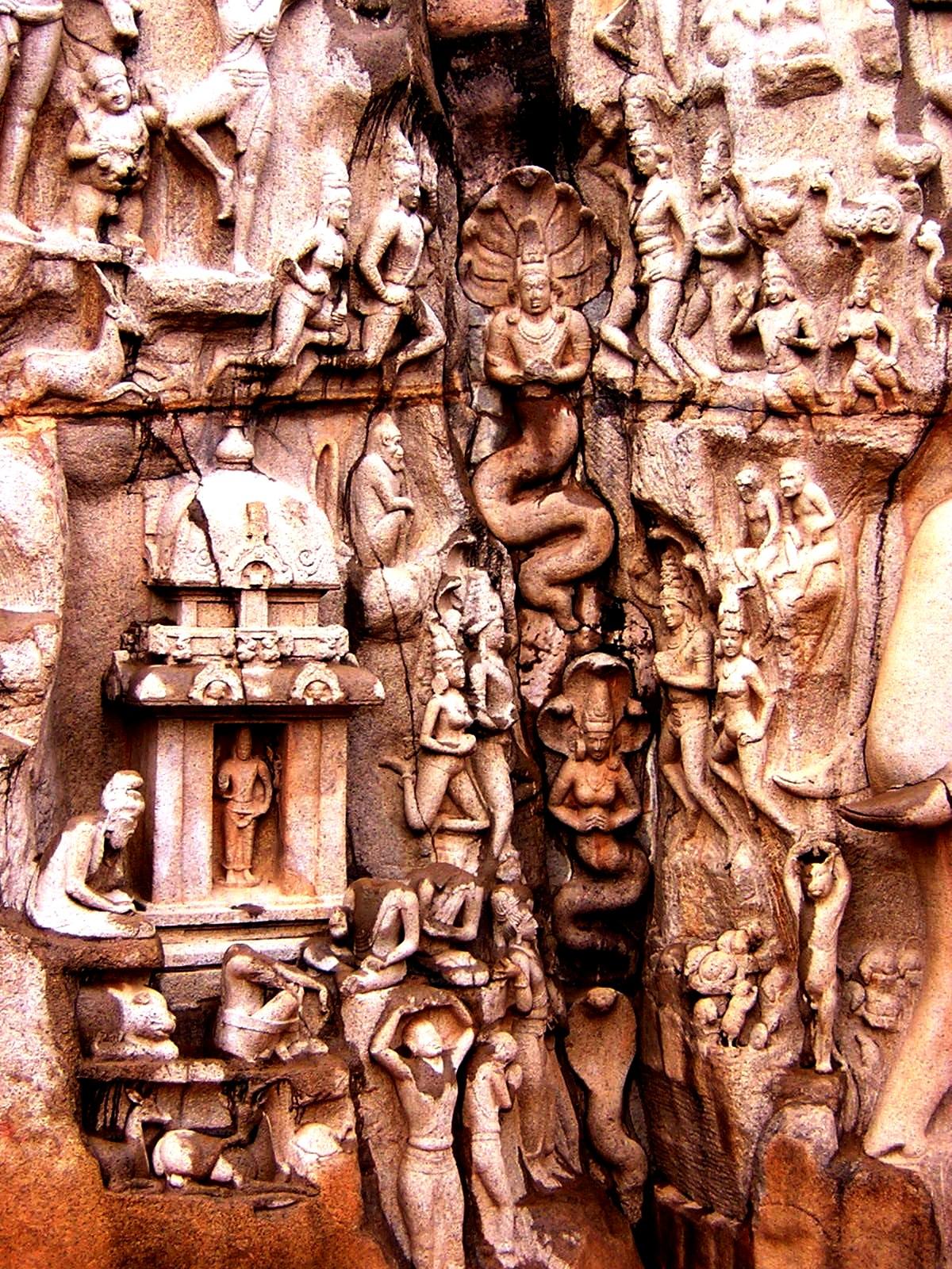 резные камни махабалипурама