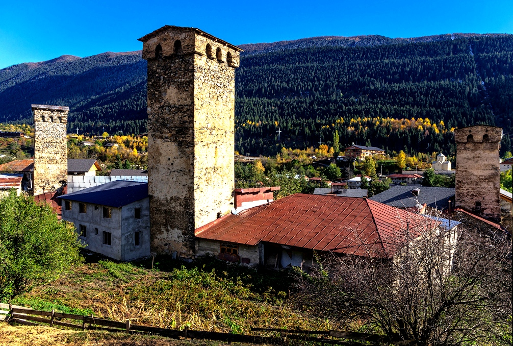 архитектура сванской башни