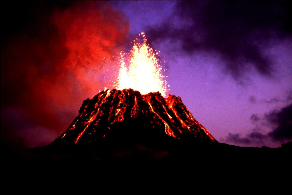 извержение гавайского вулкана