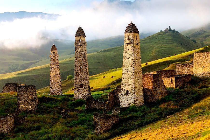 удивительные башни горной ингушетии