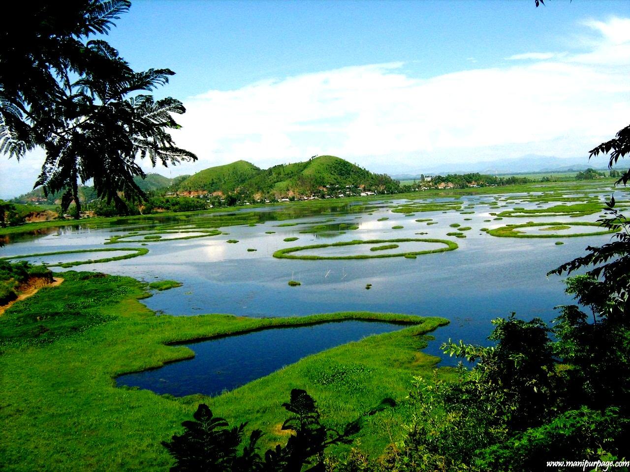 пейзаж озера локтак