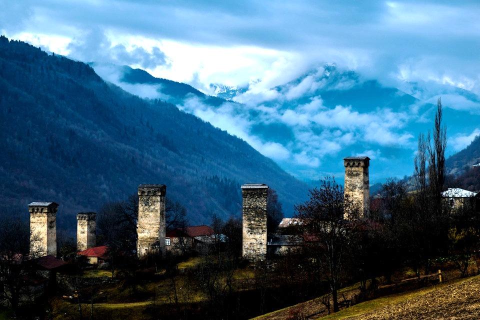 панорама башен сванетии
