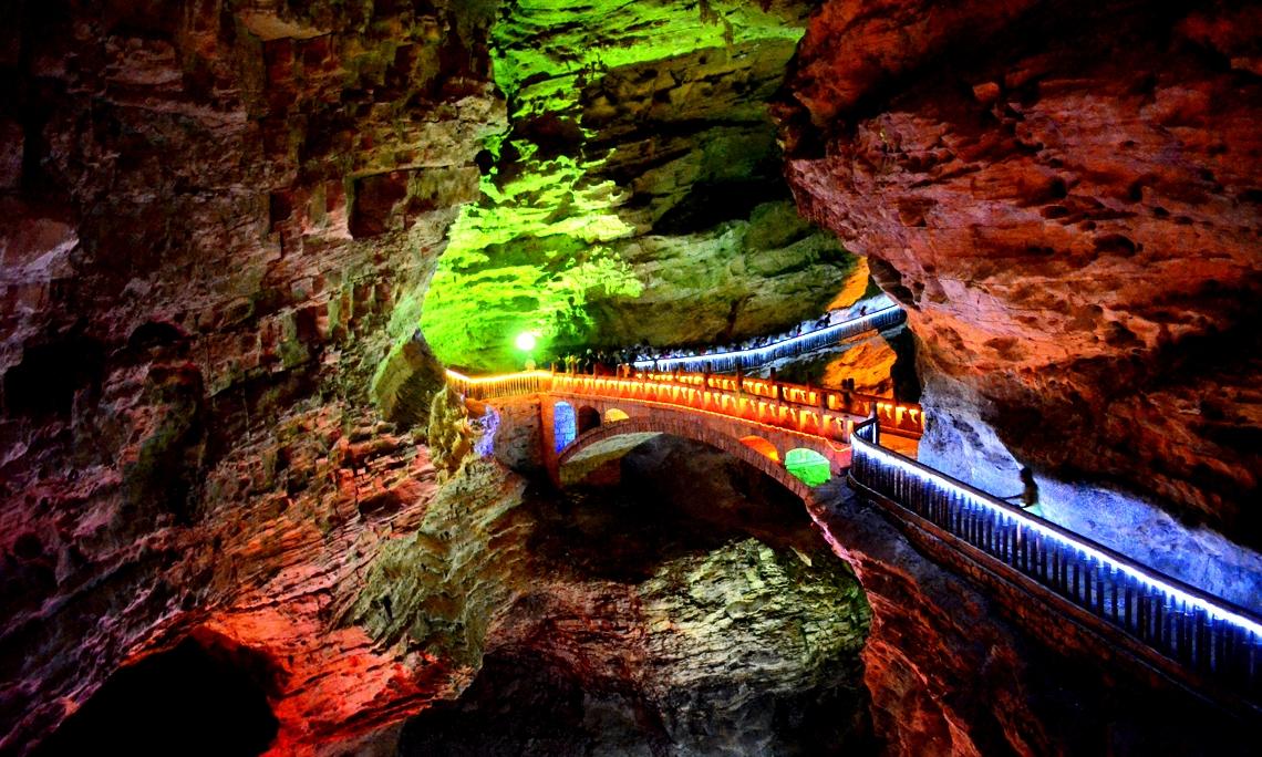 виды пещеры хуанлун