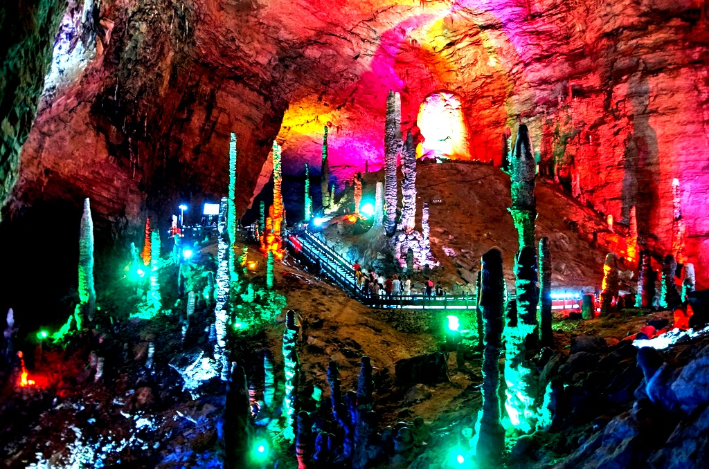 пейзаж пещеры хуанлун