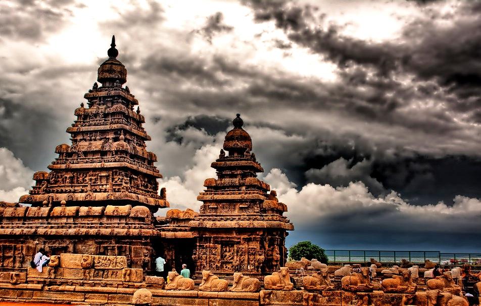 панорама прибрежного храма