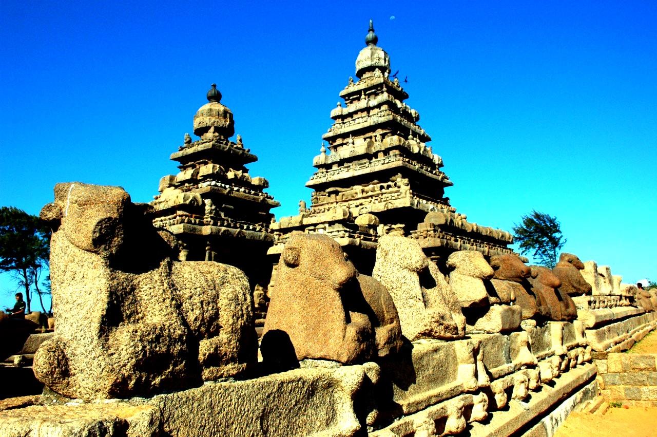 пейзаж махабалипурама