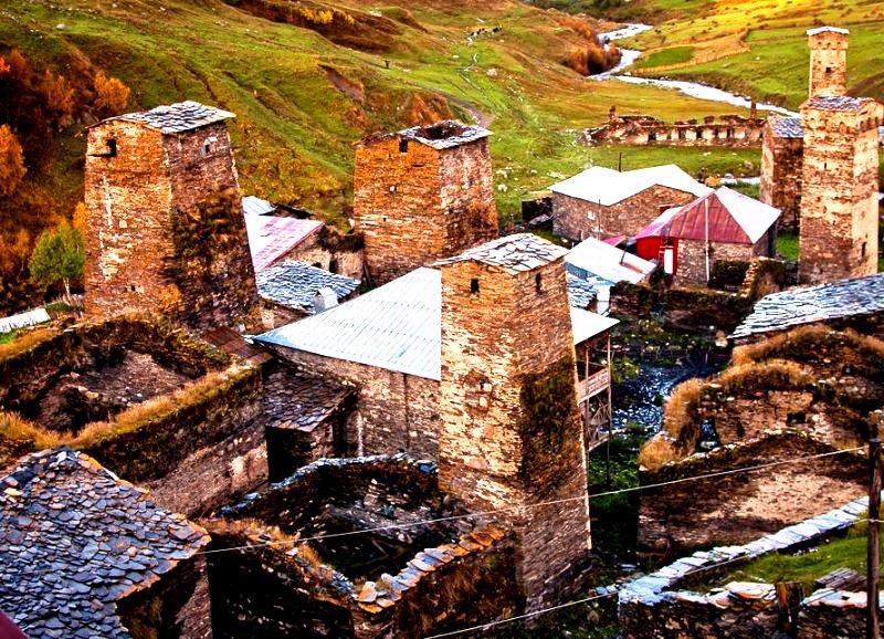 загадочные сванские башни