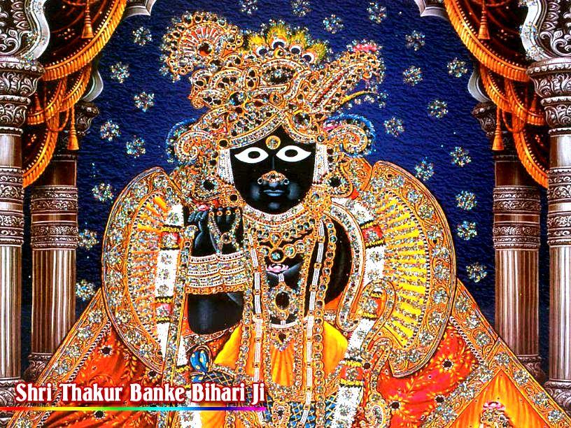 картины в храме банке бихари