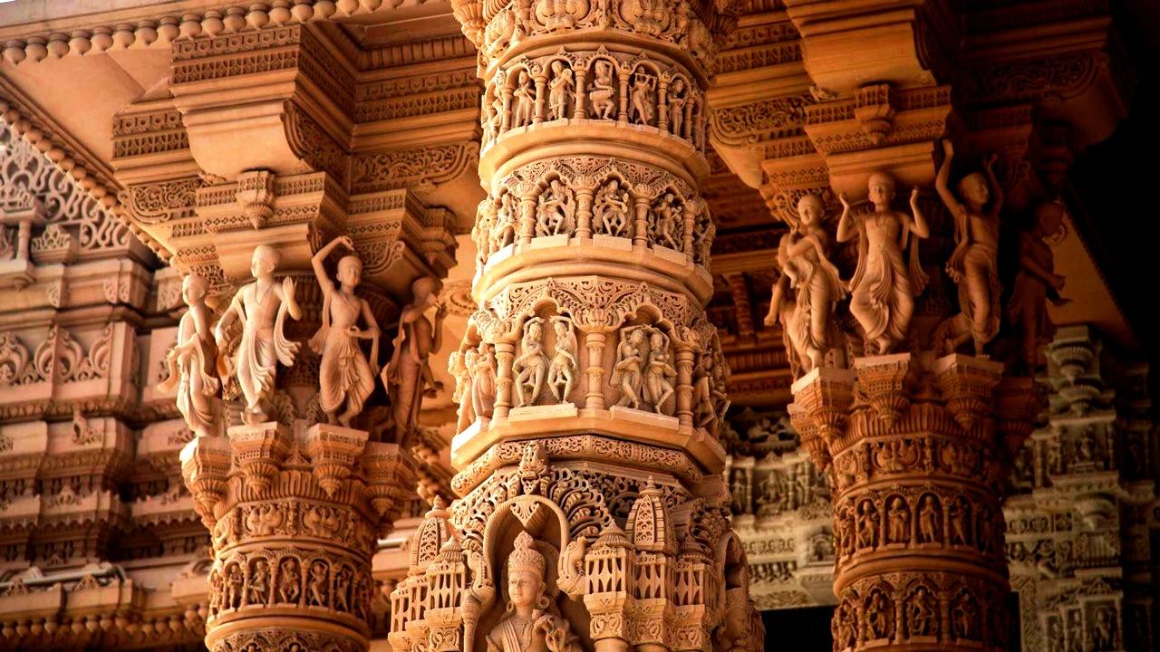 колонны акшардхама