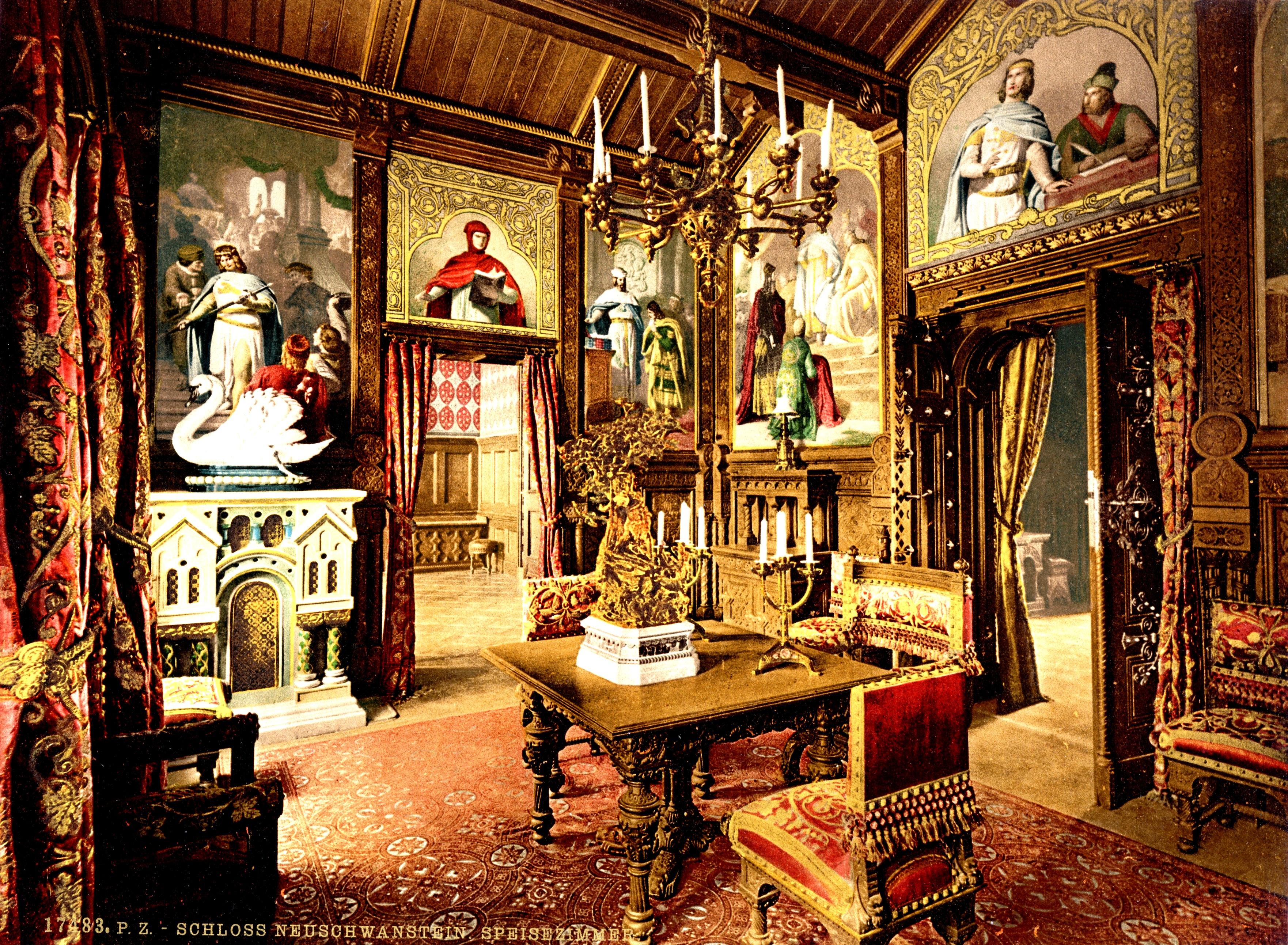 изящный дворец нойшванштайн