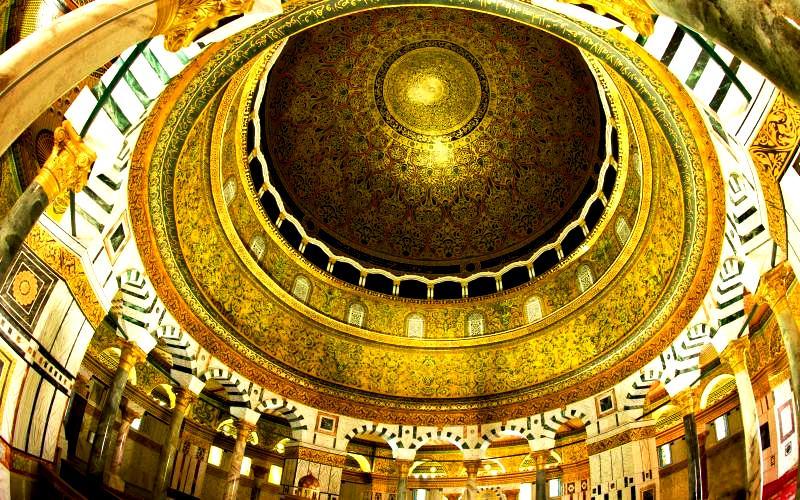 потолок мечети купол скалы