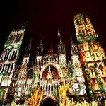 световое шоу Руанского собора