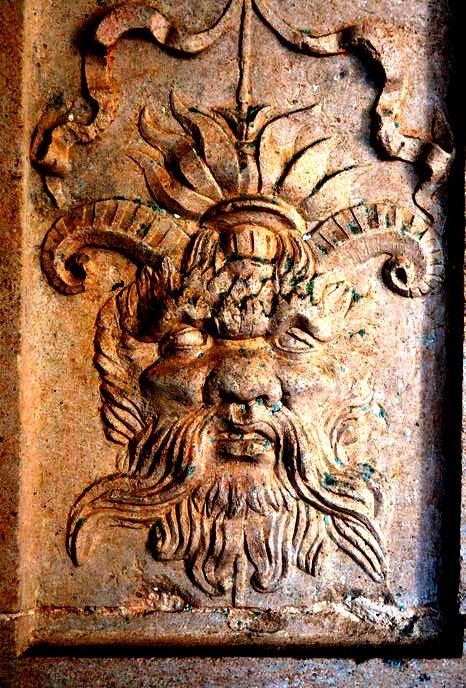 скульптура демона