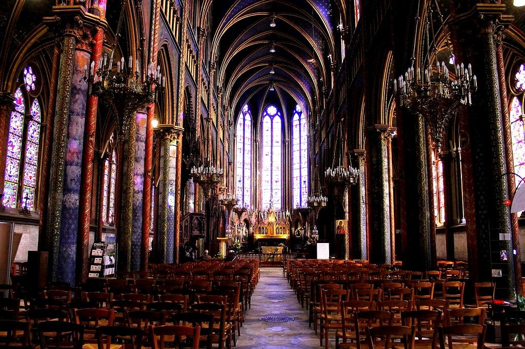 внутри собора руана