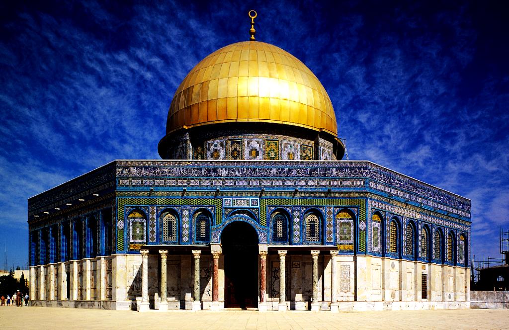золотой купол мечети омара