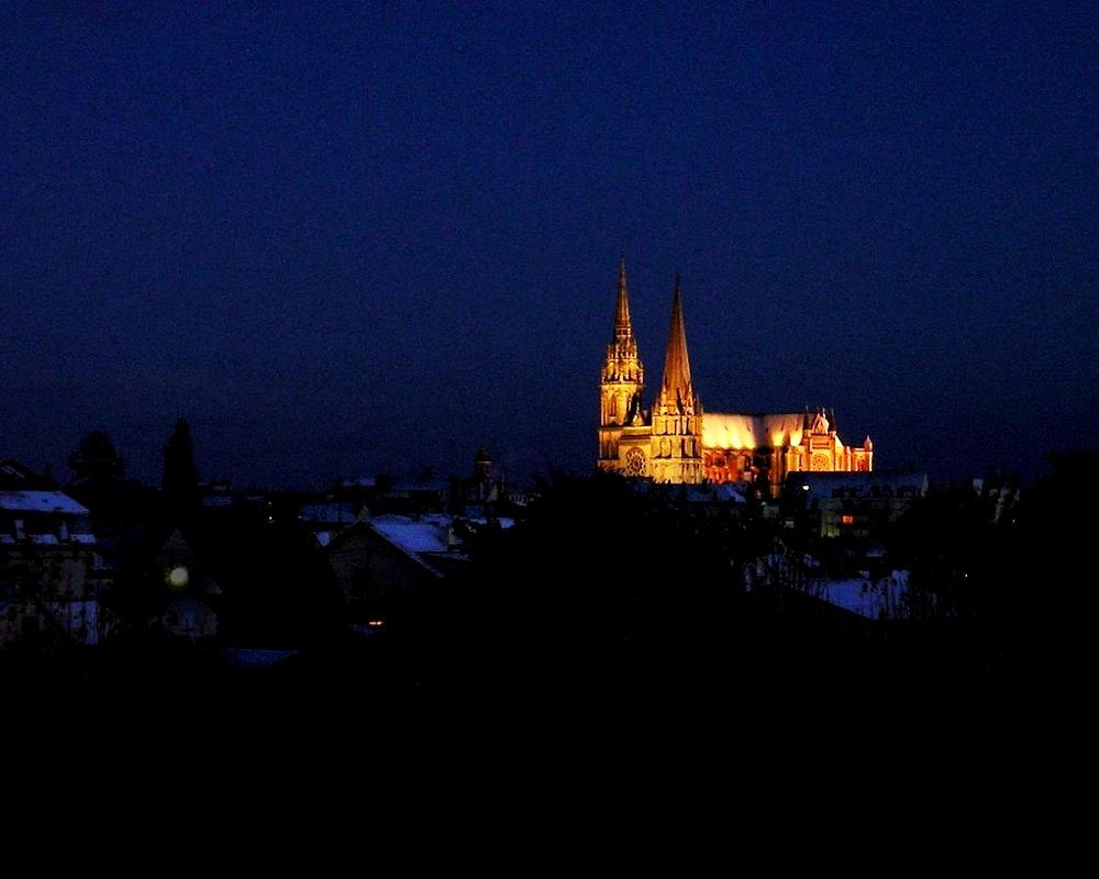 панорама шартрского собора