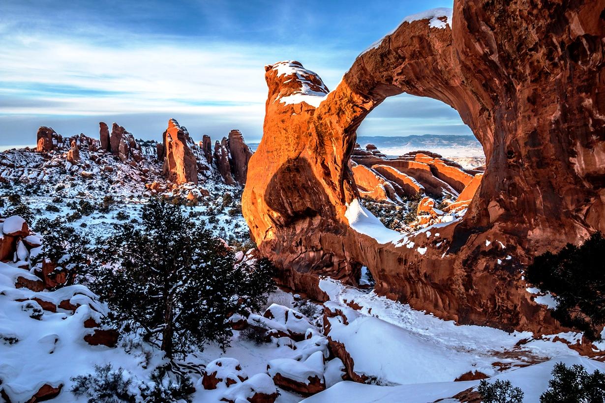 зимние пейзажи арчес