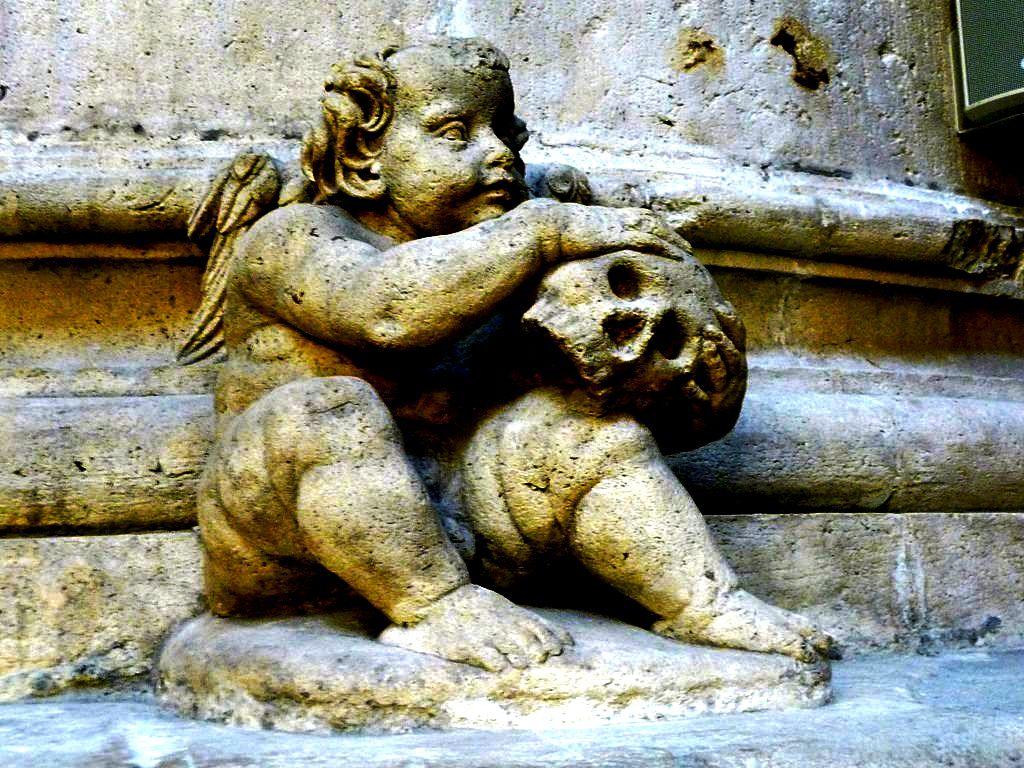 ангел и череп