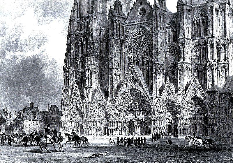 буржский собор, гравюра
