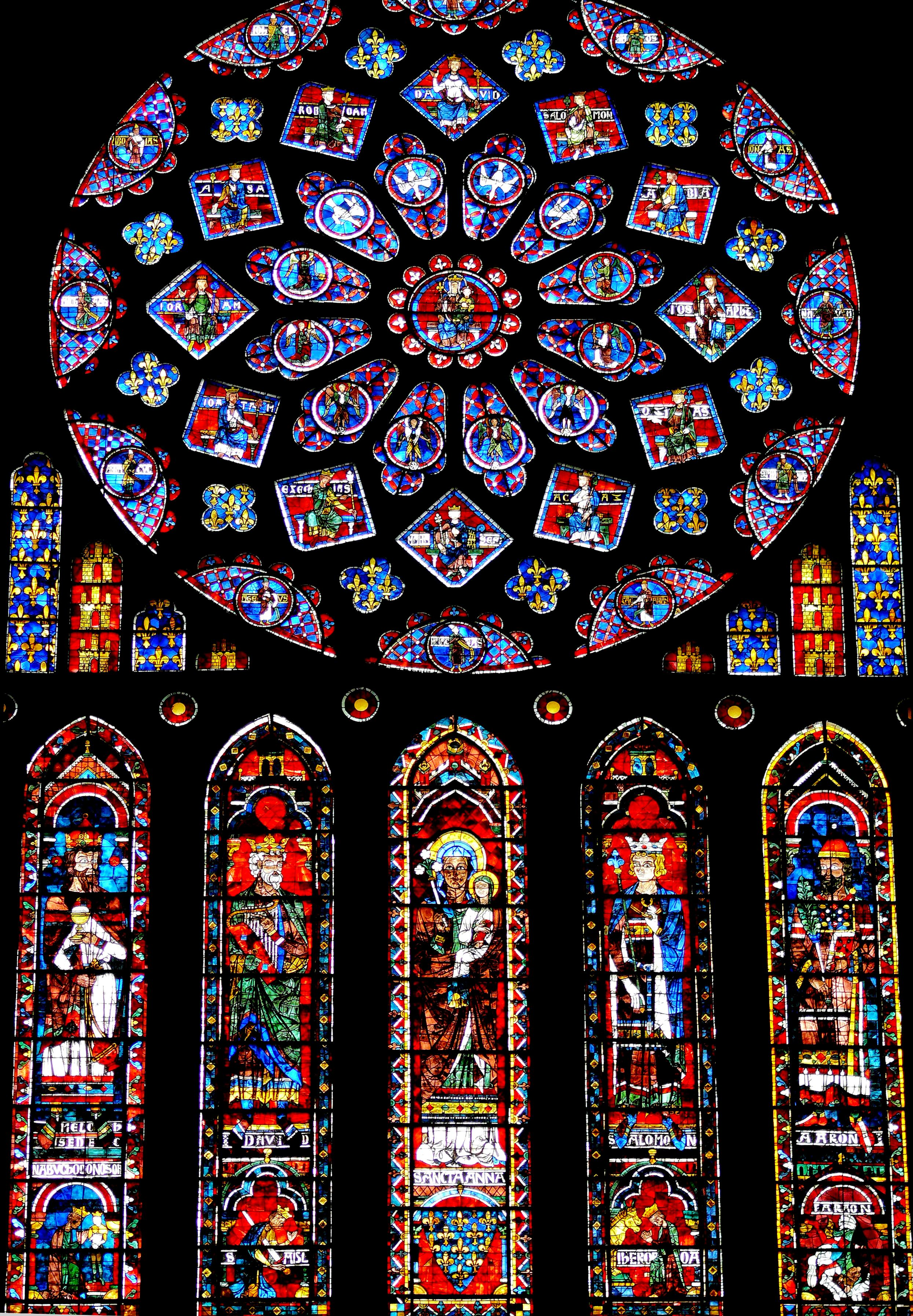 витражи шартрского собора