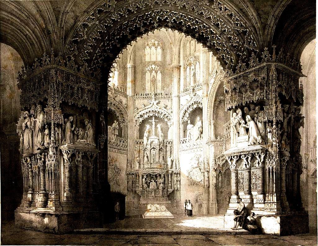 собор в бургосе старая гравюра