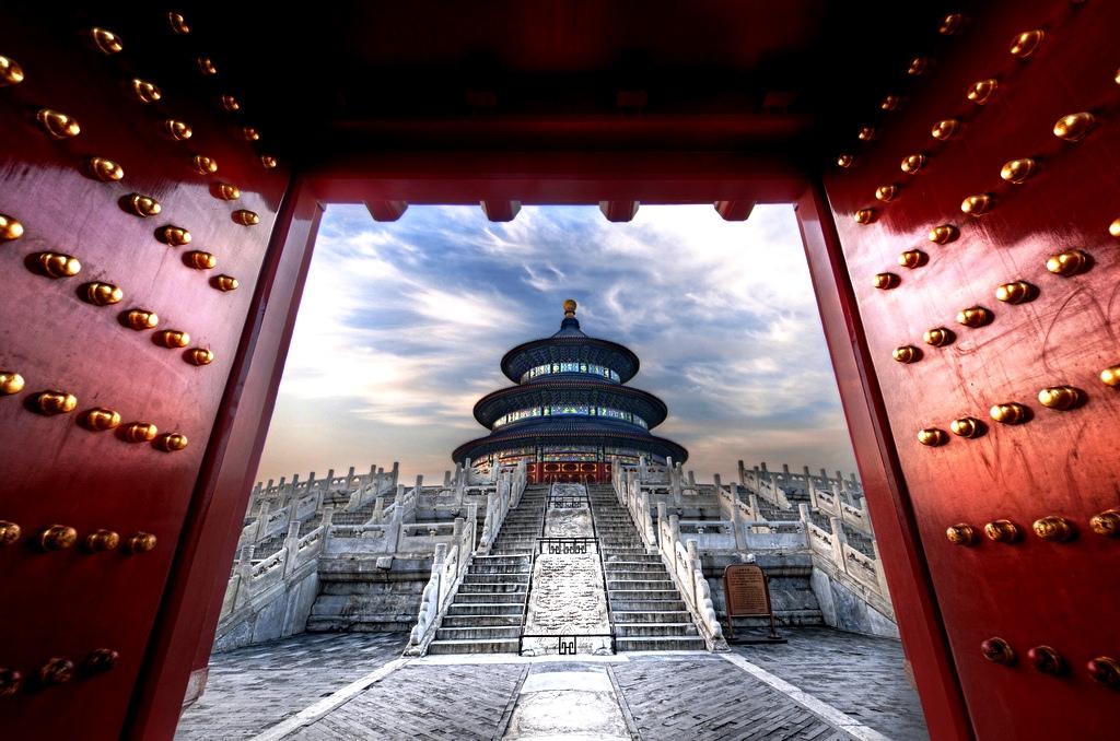 вид на храм неба