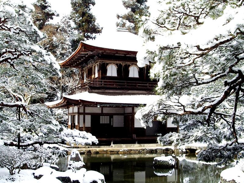 зимний пейзаж гинкакудзи